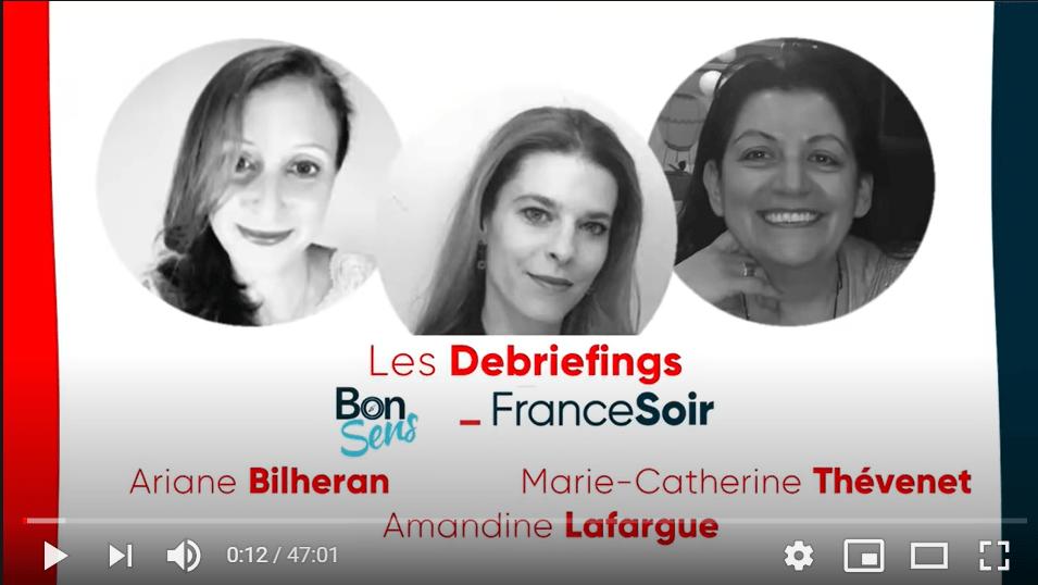debriefing France Foir avec Bon Sens : A.Bilheran, A.Lafargue, M-C.Thevenet : et la santé psychique des enfants ?